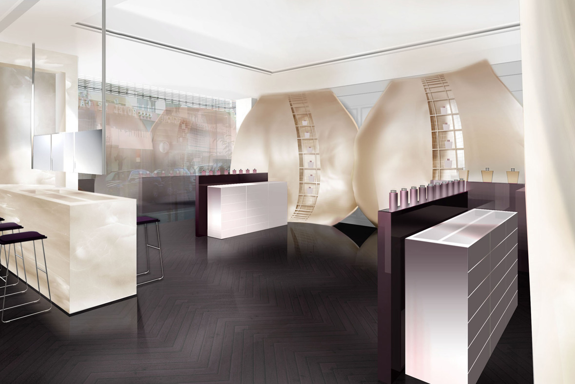 bienenstein concepts projects concepts lancome flagship paris