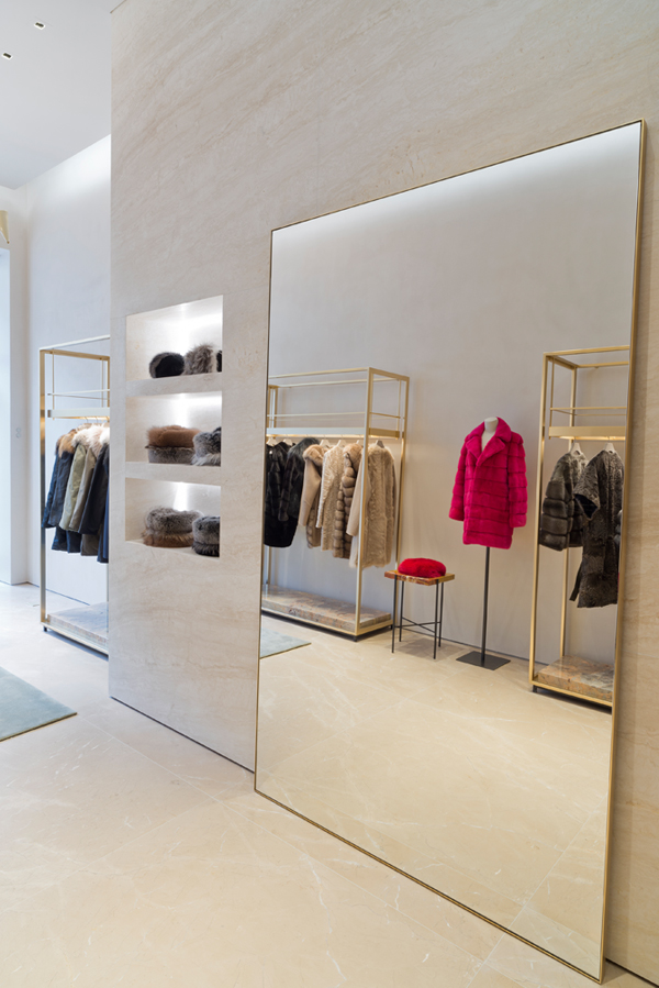 bienenstein concepts projects retail yvessalomon store madisonavenue nyc mirror